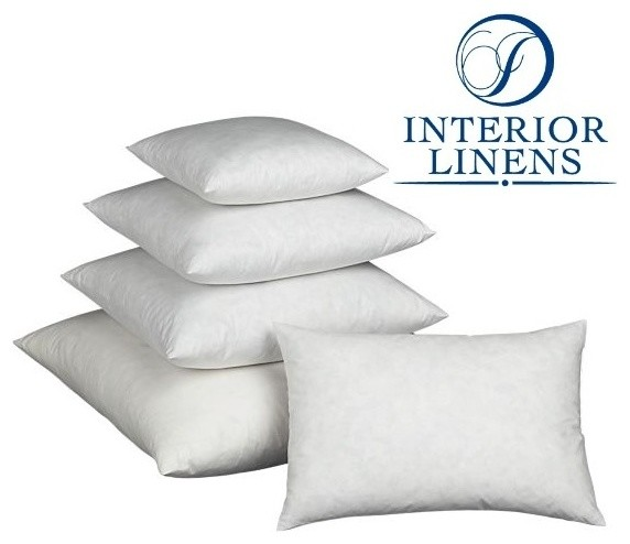 Decorative Down Pillows : 90/10 Down Pillow Inserts - Decorative Pillows - sacramento - by Interior Linens