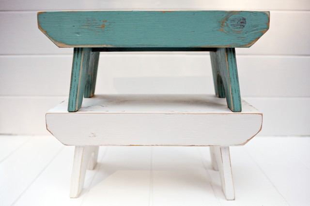 Vintage Style Step Stool Traditional Ladders And Step