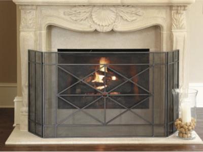Rivoli Fireplace Screen Traditional Fireplace Screens By Ballard Designs