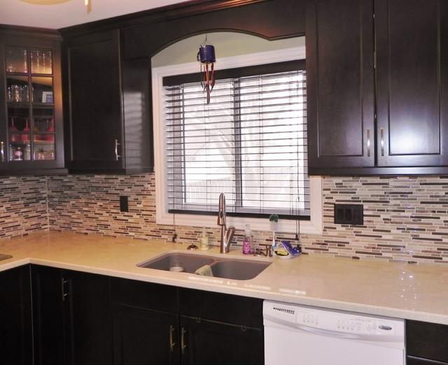 Woodcrest Maple Espresso Modern Kitchen Toronto By Alliston Home Hardware Building Centre