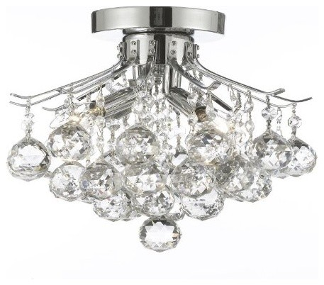 French Empire Four Light Crystal Ball Chandelier Traditional Chandeliers By Gallery