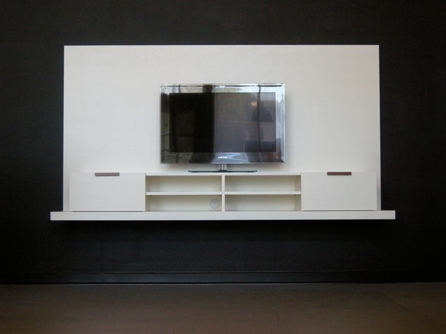 Backdrop wall mounted media console wide modern Wall mounted media console