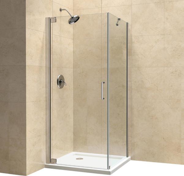 DreamLine Elegance 30 By 32 Frameless Pivot Shower Enclosure Co