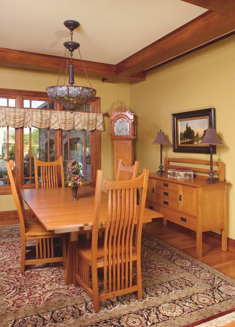 mission style cherry dining room furniture craftsman dining sets