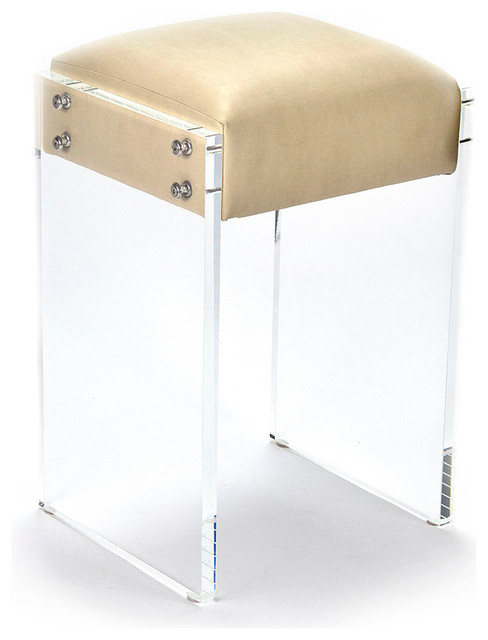 Acrylic Counter Stool Transitional Bar Stools And