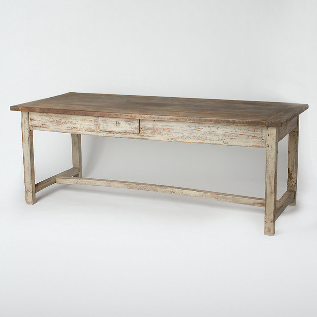 Farmhouse Dining Table Traditional Dining Tables by Terrain