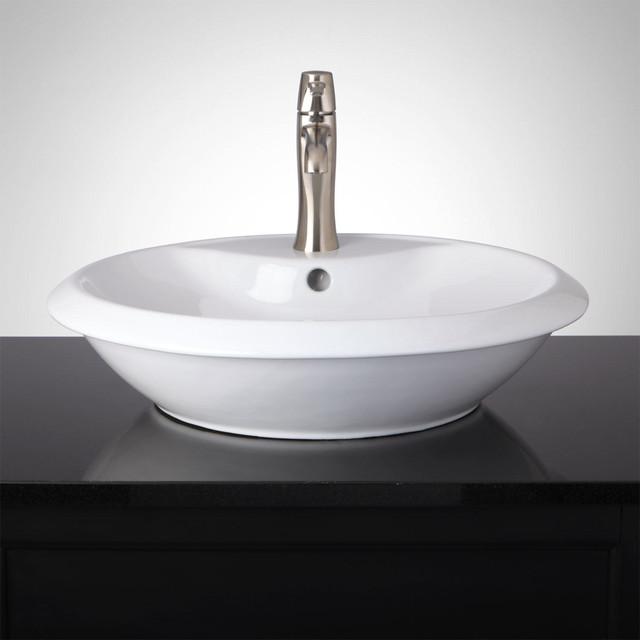 Gambert Round Vessel Sink - Transitional - Bathroom Sinks - by ...