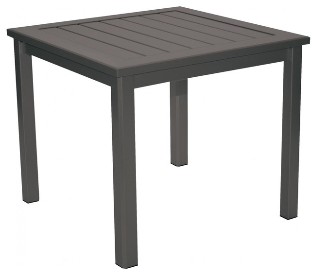 Homecrest Dockside Aluminum Patio Side Table - Flagstone - Modern - Outdoor Side Tables - by ...