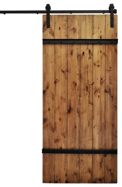 "Barn Door and Hardware, Drawbridge, Aged Oak, 48""x96"" - Modern - Interior Doors - by Modern ..."