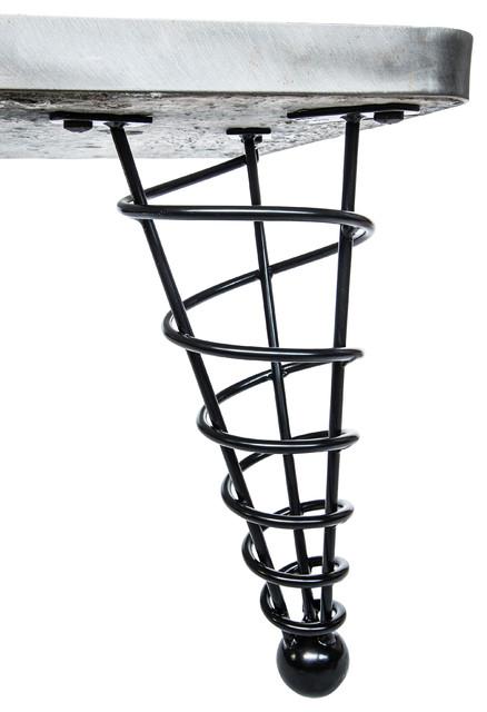 Modern table leg 14 inch height single leg modern for Single leg dining table