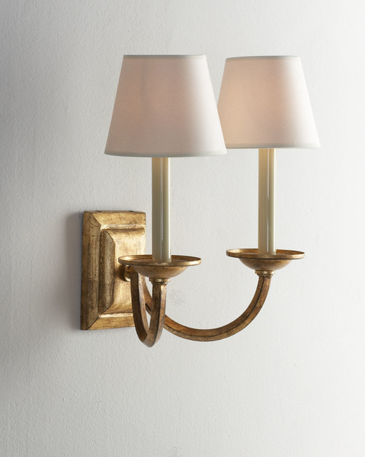Contemporary Wall Lamps Swing Arms : Double-Arm Flemish Sconce - Contemporary - Swing Arm Wall Lamps - by Horchow