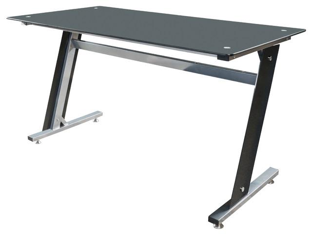 Genesis Glass puter Desk & Cabinet Drawers Black