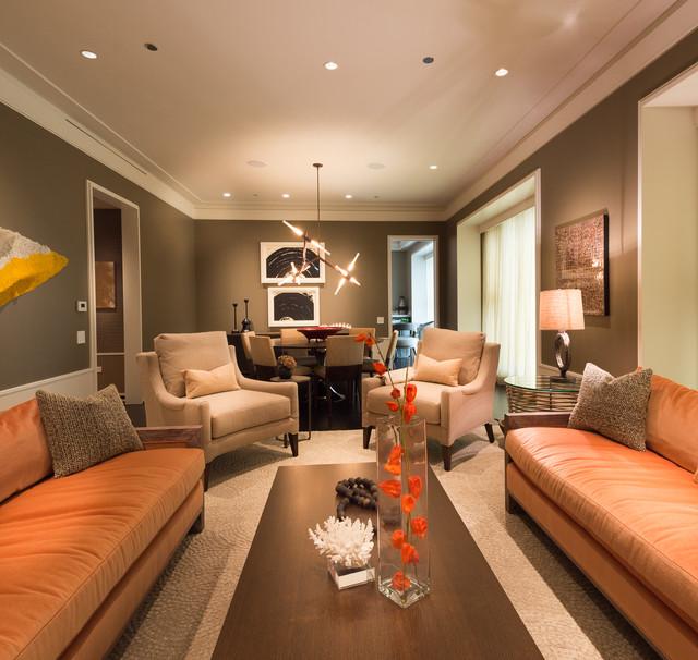 Elegant Comfortable Modern Living Space Contemporary