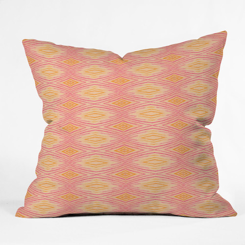 Modern Throw Pillows Orange : Cori Dantini Orange Ikat 4 Throw Pillow - Modern - Decorative Pillows