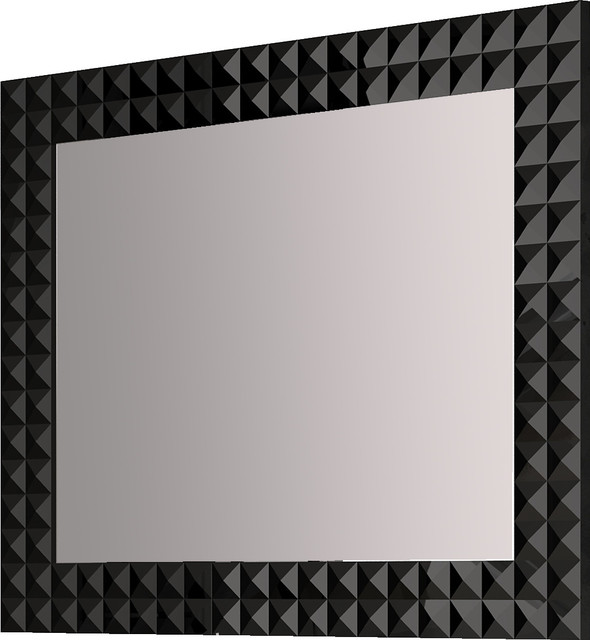Black Contemporary Mirrors 118