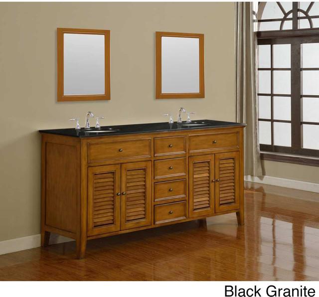 Direct vanity 70 inch oak shutter double vanity sink cabinet contemporary bathroom vanities for 70 inch double bathroom vanity