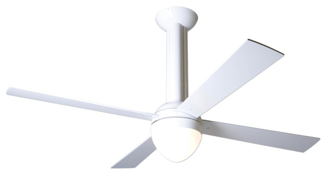 Modern fan company stratos gloss white 52 ceiling fan Modern white ceiling fan
