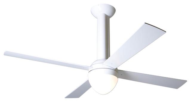 Modern fan company stratos gloss white 52 ceiling fan Modern white ceiling fan