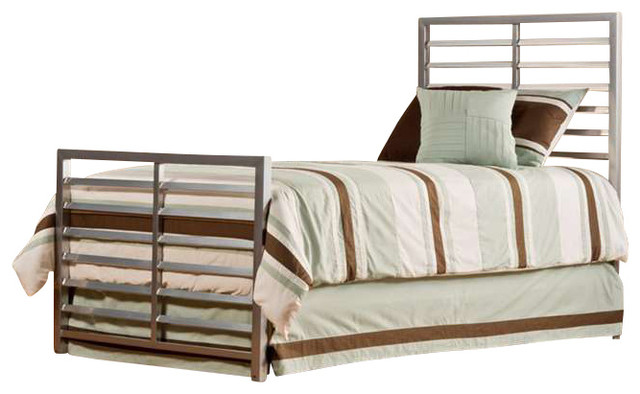 Hillsdale Furniture Latimore Bed Set Twin With Rails Mirror Silver