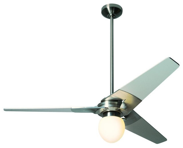 Ceiling Fan Light Not Bright : Torsion light quot ceiling fan in bright nickel