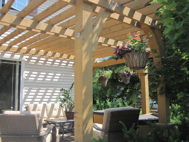 pergola mediterranean minneapolis by asset. Black Bedroom Furniture Sets. Home Design Ideas