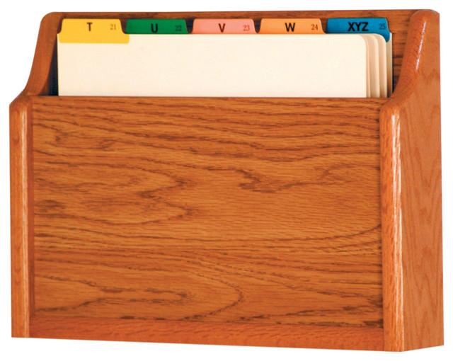 ... Bottom Letter Size File Holder, Medium Oak craftsman-filing-cabinets