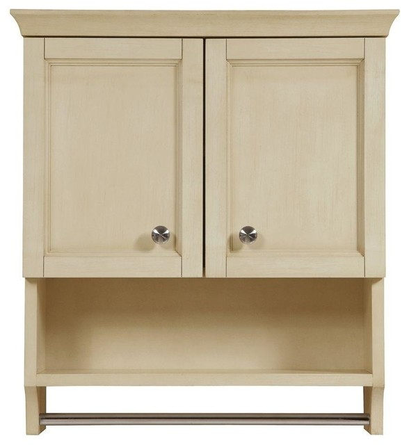 Jordan Modular Birch Wall Cabinet Antique White 23 5 Traditional Bathroom Cabinets And