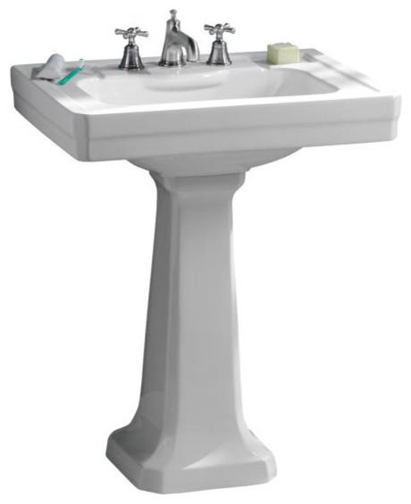 Porcher Pedestal Sink : Inch Pedestal Lavatory Sink by Porcher - Traditional - Bathroom Sinks ...