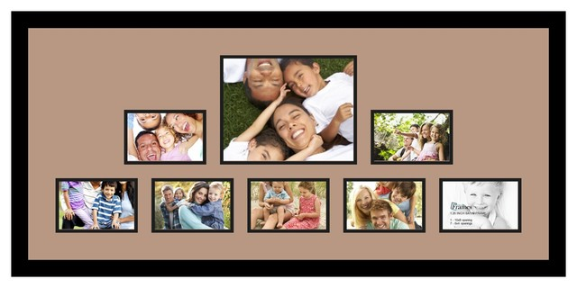 Arttoframes collage photo frame with 1 8x10 and 7 4x6 for 8x10 office design