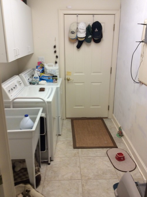 Laundry Cat Bed And Bath Entry From Garage To Home Dilema