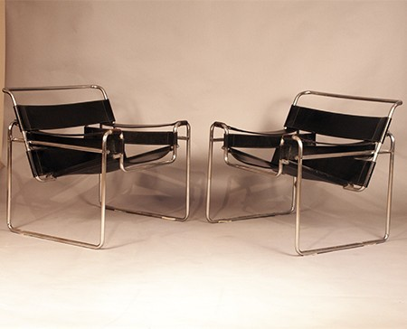 wassily st hle von marcel breuer f r myc gavina 2er set. Black Bedroom Furniture Sets. Home Design Ideas
