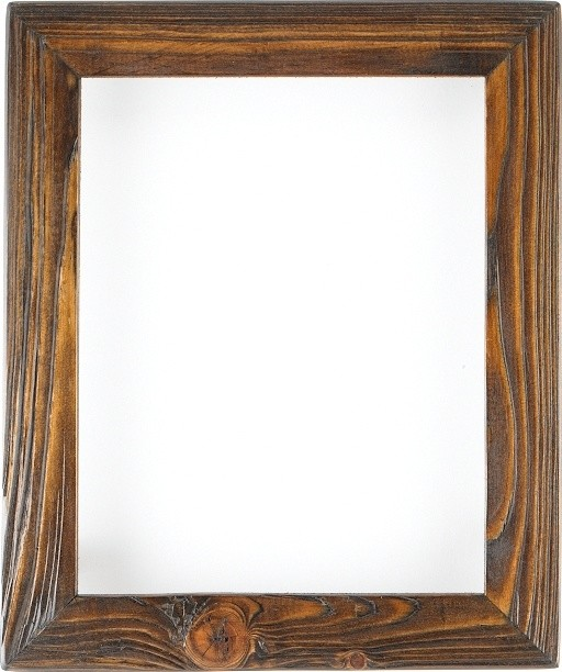 Weathered Picture Frame In Charred Timber Home Decor