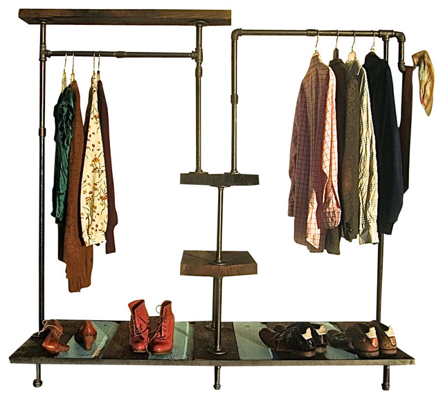 his and hers garment rack industriel portant et valet par oilfield slang. Black Bedroom Furniture Sets. Home Design Ideas