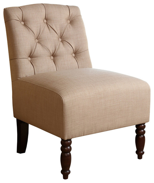 Abbyson Living Edgewood Tufted Fabric Chair Traditional