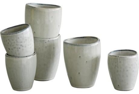 Broste nordic sand handleless mug small rustic mugs by trouva - Handleless coffee mugs ...