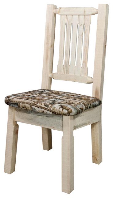 38 In Handcrafted Side Chair Rustic Dining Chairs By ShopLadder