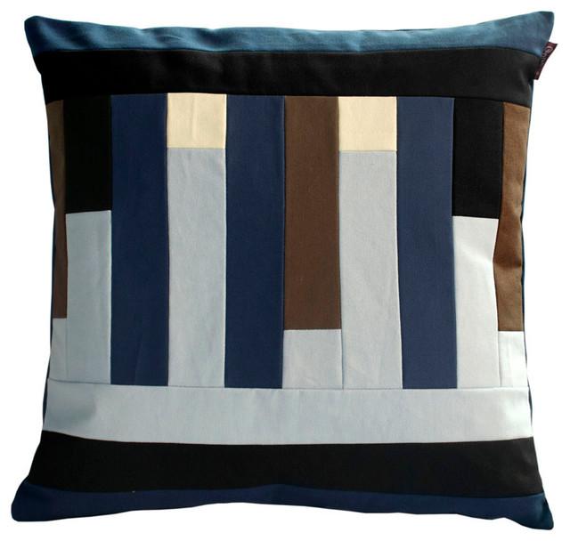 Multi-Color A Stripe Decorative Throw Pillow - Contemporary - Decorative Pillows - by Blancho ...
