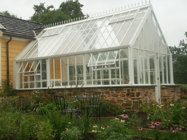 English greenhouse victorian glasshouse attached to home for House plans with greenhouse attached
