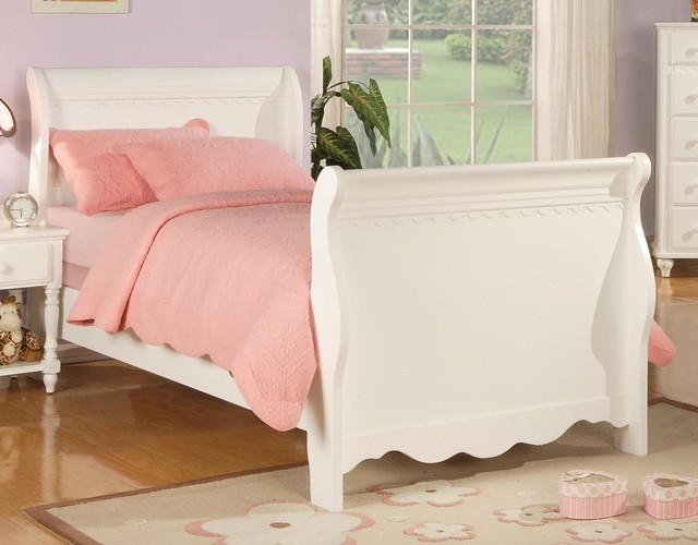 Girls Sleigh Bed Contemporary Bedroom Furniture Sets Los Angeles By S