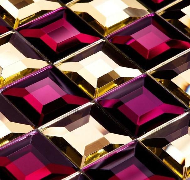 glass mosaic tile glass mosaic Mirror tiles diamond glass mosaic tile ...