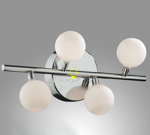 Chrome Ball Wall Lights : Modern Depolished Glass Ball LED Wall Sconce in Chrome Finish - Contemporary - Wall Sconces ...