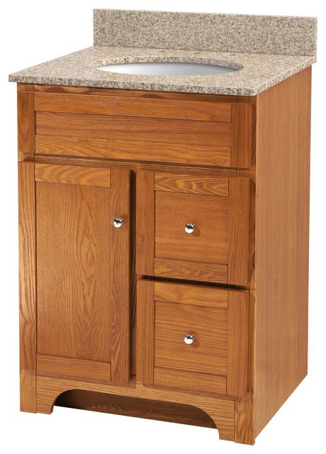 Worthington Four Oak Bathroom Vanity Traditional Bathroom Vanities And Sink Consoles By