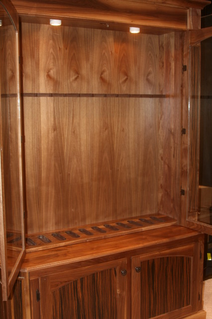 Walnut Rifle Cabinet - Orlando - by Figueroa's Fine Custom Furniture