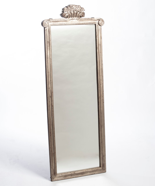 provence long mirror silver leaf transitional wall mirrors