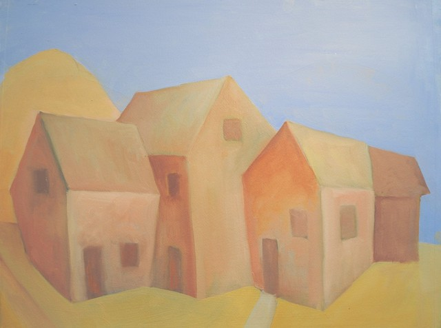 Out buildings, Original, Painting - Contemporary - Paintings - by ...