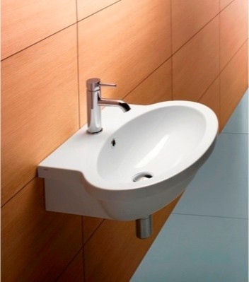 Gorgeous Oval Shaped Wall Mounted Bathroom Sink By Gsi