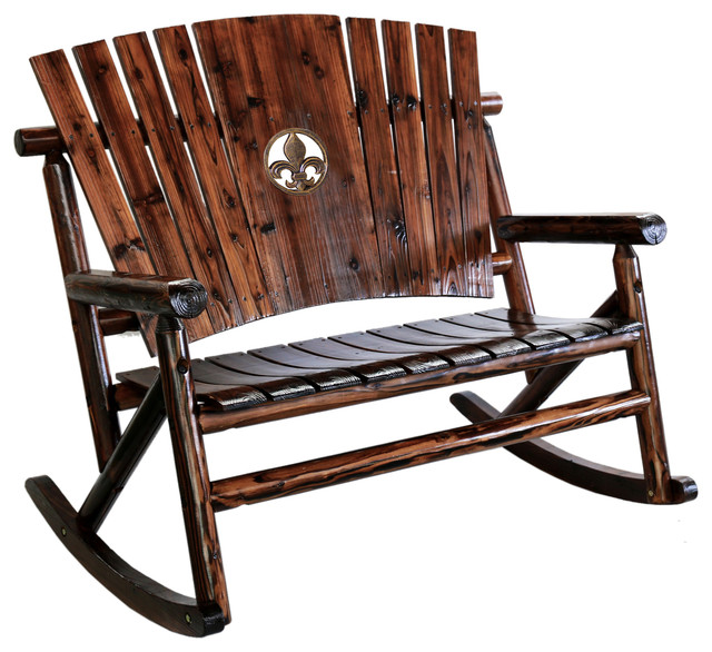 rustic star rocking chair 1