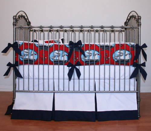 ships ahoy nautical crib bedding  baby boy - baby bedding - new york