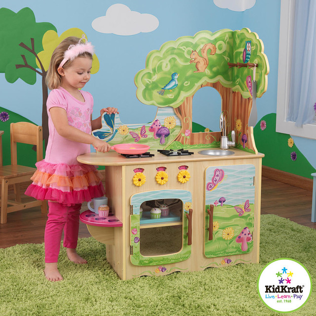 Kidkraft fairy woodland kitchen contemporary kids toys for Cuisine bois toys r us