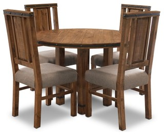 5 Piece Distressed Reclaimed Wood Dining Set Rustic Dining Sets By Craf